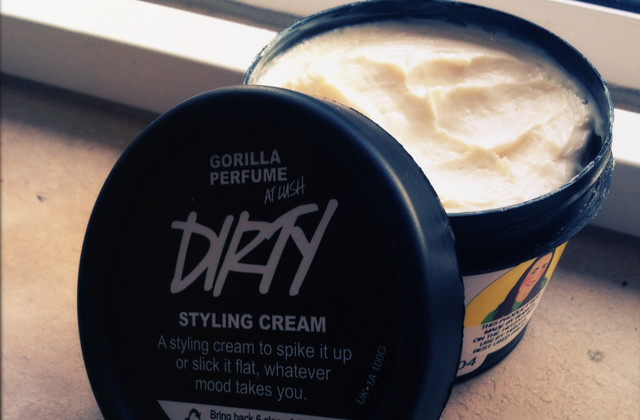 lush dirty styling cream