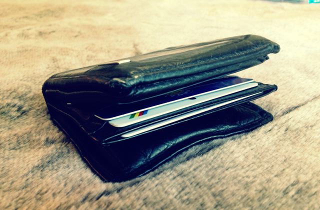 bulky wallet